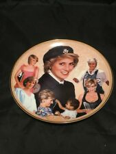 Princess Diana Wales Danbury Mint Royal Goodwill Ambassador Fine Memorial Plate