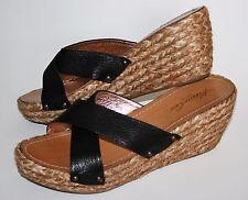 Kenneth Cole New York Womens Black Leather Platform Sandals size 9,5
