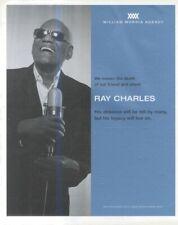 "(HFBK31) POSTER/ADVERT 13X11"" RAY CHARLES (WILLIAM MORRIS AGENCY)"
