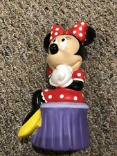 """New listing Disney Applause Minnie Mouse Plastic Piggy Bank 9"""" Tall 1990's"""