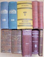 10 Oude Woordenboeken Nederlands, Duits, Frans - 1841/1941