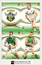 2007 Select NRL Invincible Trading Cards Base Team Set Raiders (12)
