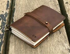 """Genuine Leather Notebook 5x4"""" Vintage Dairy Journal Writing Leather Notepad"""