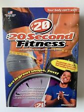 20 Second Fitness The Super Fast At Home Training System Set of 6 Dvd Vg :20
