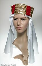 Sheik Headpiece Lawrence Of Arabia Desert Prince Rd Gd & Wht. Costume Headpiece