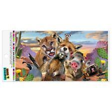 Southwestern Animals Selfie Cougar Fox Roadrunner Prairie Dog Car Magnet