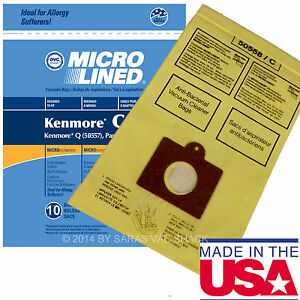 10 DVC Bags for Sears Kenmore Vacuum Cleaner 5055 50557 50558 Canister
