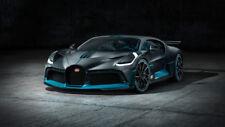 2019 Bugatti Divo Silk Fabric Poster 24 X14 inch