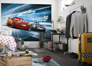 254x183cm Red Wall mural wallpaper for chlildrens bedroom decor Cars3 Disney