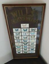 More details for vintage framed butterfly cards - set of 25 - nice vintage decorative item