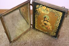 New listing Antique Victorian Shaving Triptych Mirror Beveled Glass Celluloid Panels women