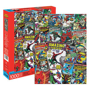 Aquarius Marvels Spider Man Comic Cover Collage 1000 Piece Jigsaw Puzzle NEW