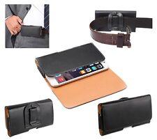 Para Samsung Galaxy Note 4 funda Cinturon clip horizontal piel suave Sintetic...