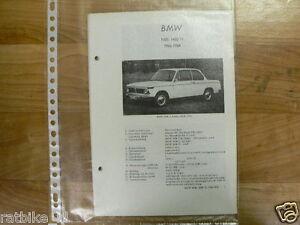 B4-BMW TYPEN 1600 EN 1600 TI  1966-1968-TECHNICAL INFO OLDTIMER