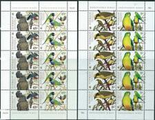 AUSTRALIA - 1998 WWF 'ENDANGERED BIRDS' Miniature Sheet Pair MNH [6386]