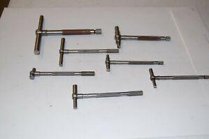 D1  LOT OF 7  Tube micrometer's   2 Starrett, 3 Craftsman, 1 Lufkin, 1 Tumico