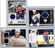 JORDAN EBERLE LOT OF (4) DIFFERENT AUTHENTIC GAME WORN JERSEY CARDS