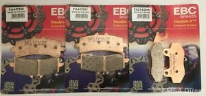 Triumph Speed Triple R 1050 (2012 to 2017) EBC Sintered FRONT & REAR Brake Pads