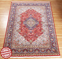 Indian Handmade 'Akaradhy' Hand Knotted Wool Area Rug 5x8 ft Blue Rugs Carpet