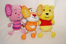3 Hallmark ~ Winnie the Pooh ~ Tigger  ~ Piglet Small Disney Plush Rope Legs NEW