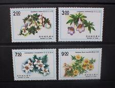 Cina TAIWAN 1991 PIANTE FIORI (II). Set di 4. Nuovo di zecca mai a cerniera. SG1969/1972.
