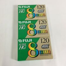 Fuji Super HG 8 mm Videocassette Tape Set of 3 HG P6-120 For 8 Video Recorders