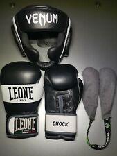 Gants de boxe LEONE et protection tête VENUM