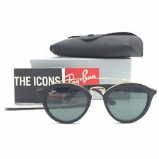 f6e07b8b33b New Ray-Ban RB4257-F 601 71 Black Gold Sunglasses w Green