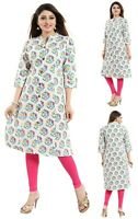 Women Indian Kurti Tunic Printed Cotton Ethnic Top Kurta Shirt Dress MM227