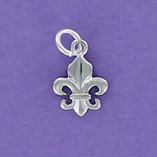 Fleur de Lis Tiny Charm Sterling Silver 925 for Bracelet New Orleans Saints