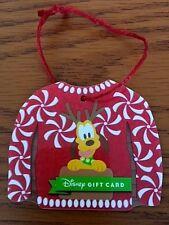 Disney Parks Pluto Reindeer Christmas Sweater Gift Card Christmas Ornament