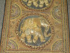 "Antique Kalaga Myanmar Thai Burma embroidery Elephant Tapestry Sequin 50""x15"""