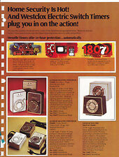 VINTAGE AD SHEET #3201 - 1970s WESTCLOX ELECTRIC SWITCH TIMER