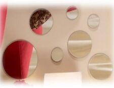 7 PC ROUND ART DECO WALL MIRRORS SET WALL HANGING MANTEL BATHROOM HALLWAY MIRROR