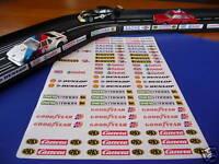 Slotcar Aufkleber 72er SET für Carrera Servo 132 140 SCHIENEN DEKO 77124