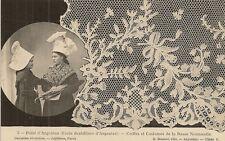 CARTE POSTALE 3.POINT D'ARGENTAN ECOLE DENTELLIERE D'ARGENTAN COIFFES COSTUMES