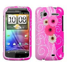 Brilliant Flower Hard Case Phone Cover HTC Sensation 4G