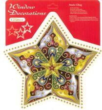 Window Stickers decorations glitter - christmas. Confezione 2. cm 30x25