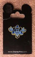 Disney Fantasmic Baseball Hat Glow in Dark Blue Sorcerer Mickey Pin Back