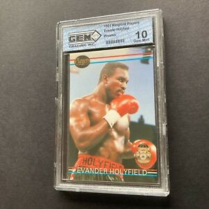 Evander Holyfield 1991 Players International Ringlord Sample 1 Promo Card Gem 10