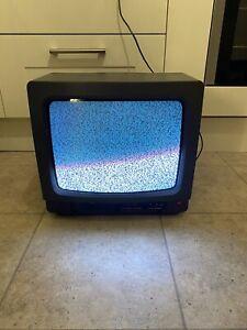 """Matsui 1436X Color CRT Cube TV Screen Retro Gaming Monitor 14"""" No Remote"""