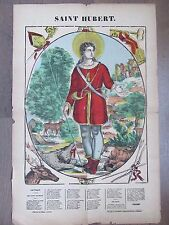 GRANDE IMAGE EPINAL 1880 SAINT HUBERT  CANTIQUE