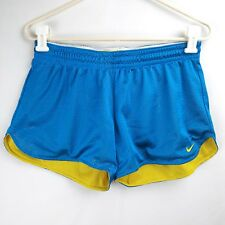 NIKE Athletic Active Shorts Blue Yellow Women's Size 8/10 Medium