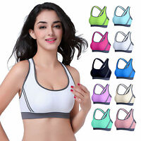 Women Sports Bra Gym Yoga Workout Vests Crop Jogging Tops Shapewear Swim Bra UK