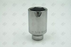 """SK Hand Tools 41846 1/2"""" Dr. 1-7/16"""" 6pt Deep Fractional Chrome Socket"""