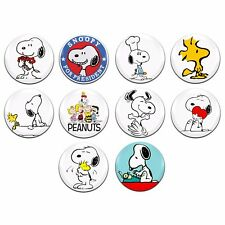 10x Snoopy Peanuts Charlie Brown 25mm / 1 Inch D Pin Button Badges