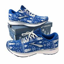 NEW Brooks Revel 3 Run Ugly Christmas Sweater Shoes Men's Size 10.5 Blue Running