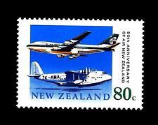 NEW ZEALAND - NUOVA ZELANDA - 1990 - 50° della Compagnia aerea nazionale - (B)
