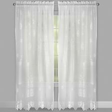 Christmas Gifts Lace White Curtains 63L Panels Set of 2