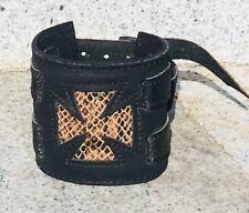 Iron Cross wrist cuff wristband Protector Schcwartz Biker Gothic metal Punk Rock